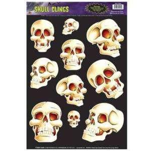Halloween Skulls Window Clings Decor Prop Decoration