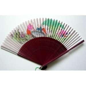 Chinese Painting Silk Bamboo Art Fan Children Everything