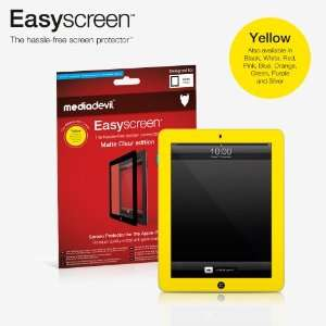 MediaDevil Easyscreen bubble free Screen Protector: YELLOW Matte Clear
