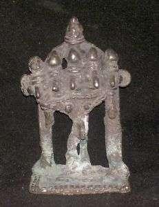 Traditional Indian Ritual Rare Bronze Five Headed Shiva