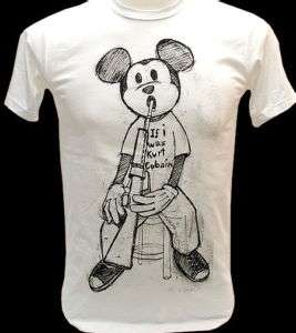 MICKEY If I was Kurt Cobain Nirvana VTG Rock T Shirt M