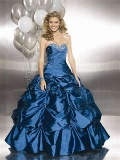 Custom Taffeta Bridal Gown Ball Deb Quinceanera Wedding Dress Pageant