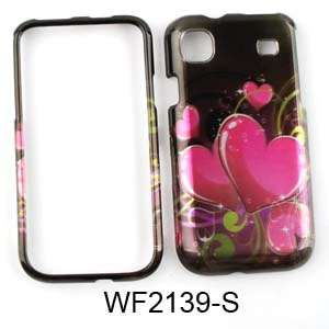For Samsung Galaxy S 4G SGH T959 Case Cover Pink Hearts Black Vibrant