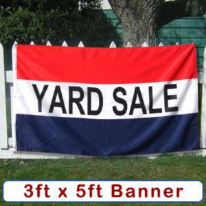 GARAGE SALE Banner Sign Flag Yard Moving Tag Rummage