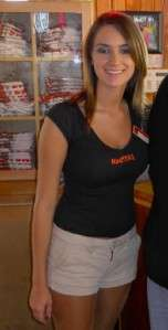 This is a 100% authentic sexy hot Hooters girl waitress / hostess