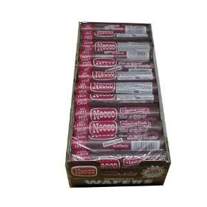 Necco Chocolate Candy Wafers 36 2.02 rolls per box