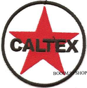 CALTEX LOGO EMBROIDERED IRON ON Patch T Shirt Sew CLOTH