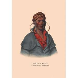Payta Kootha (A Shawanoe Warrior) 20x30 Poster Paper: Home