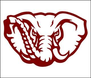 Alabama Big AL Crimson Tide 20 inch Sticker Decals NCAA