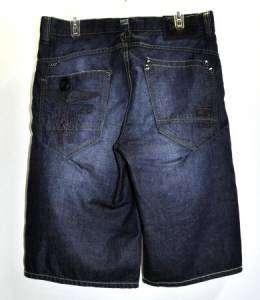 Coogi Mens Jean Shorts Dark Blue Sz 34