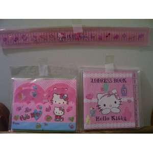 Kitty Ruler & Address Book & Stationery (Sold as a set) Toys & Games