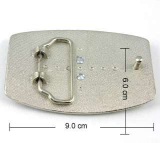 COOL Western 3D Diamond LOGO Star Crown Cross Metal Belt Buckle Mens