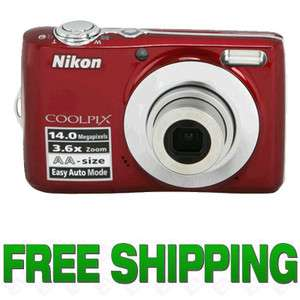 Nikon Coolpix L24 Digital Camera (Red) NEW 26240 610563301560