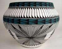 Acoma Pueblo Pottery, 8 5/8H x 10 7/8W, Corrine Chino