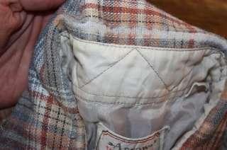 vtg 70s plaid wool blend WESTERN pearl snap shirt * cowboy