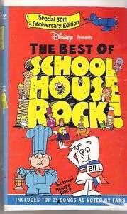 The Best of Schoolhouse Rock VHS in Original Case