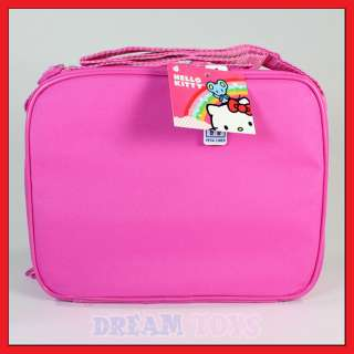 Hello Kitty Pink Glitter Lunch Bag   Box Case Kids School
