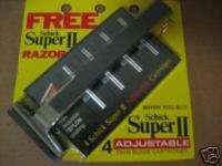 VINTAGE SCHICK RAZOR+4 SUPER II TWIN BLADE CARTRIDGE