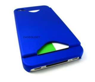 BLUE CREDIT CARD HOLDER HARD CASE COVER APPLE IPHONE 4 4s PHONE