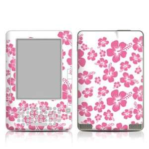 Pink Hibiscus Design Protective Decal Skin Sticker for
