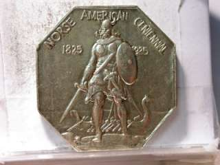 1925 NORSE AMERICAN MEDAL COMMEMORATIVE THICK PLANCHET ID#L503