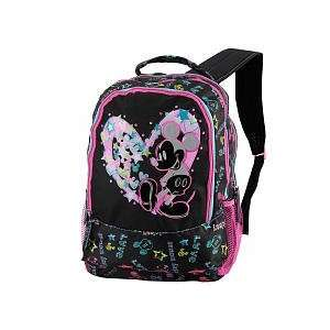 Disney Mickey Mouse Girls Large Black School Backpack with