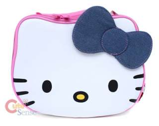 Hello Kitty School Lunch Bag  Face Shape w/Denim Bow