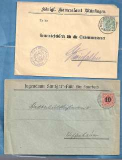 GERMANY OLD STATES POSTAL HISTORY CVS POSTMARKS