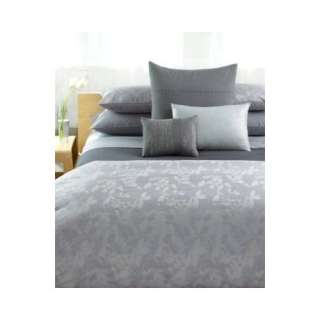 Calvin Klein Home Haze Dappled Border Flat Sheet, Queen Mussel
