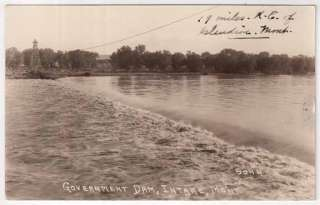 RP Postcard Government Dam in Intake, Montana