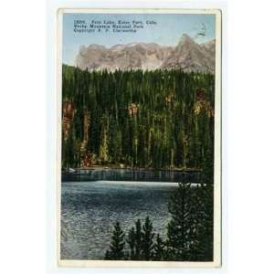 Park Colorado Postcard Rocky Mountain National Park 1922 Everything