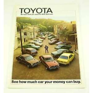 1975 75 TOYOTA BROCHURE Celica Corona Mark II Pickup: Everything Else