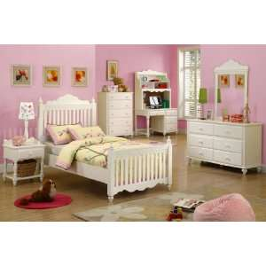com CM7617Y Twin Size Bed / Adriana I / White Finish Home & Kitchen