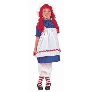 Childs Girls Rag Doll Halloween Costume (SizeLarge 10