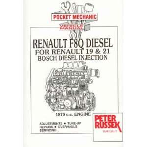 com Diesel Engine Repair Manual for Renault 19/21, 1870c.c. (Renault