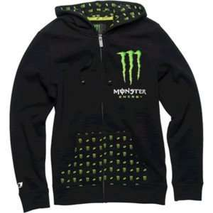 NEW MONSTER ONE INDUSTRIES GIRLS PATRIE ZIPUP HOODIE BLACK