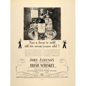 1934 Ad John Jameson Irish Whiskey Bottles Alcohol