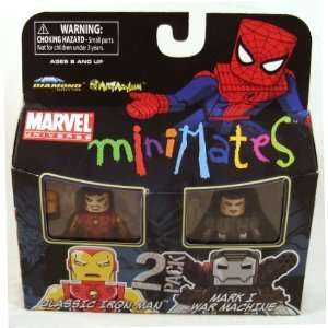 Minimates 2 Pack Classic Iron Man and Mark I War Machine Toys & Games