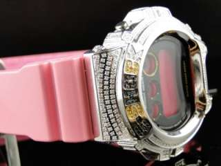 SHOCK UNISEX PINK GENUINE DIAMOND WATCH JOE RODEO DW 6900CS 4DR