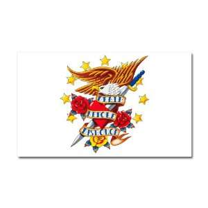 Car Magnet 20 x 12 Bald Eagle Death Before Dishonor