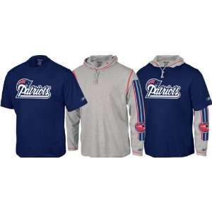 New England Patriots Reebok Hoodie Tee Shirt 3 in 1 Combo
