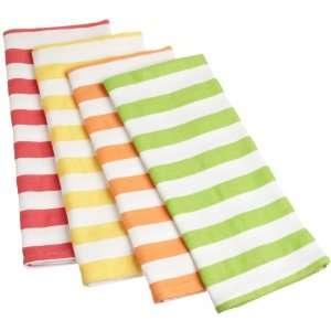 DII Fruit Salad Cabana Stripe Kitchen Towel, Set of 4