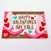 Valentines Day Placemats 6 Styles UPick Hearts Pink Red Cupcake Quick