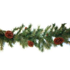 Good Tidings 96579 Garland Pembroke 200 Tips with pinecones, 9 Foot by