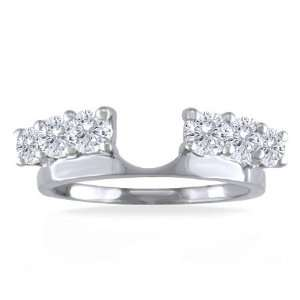 Enhancer Ring 1.00 Carat (Ctw) 14K White Gold Wrap Ring Jewelry