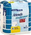 attends diaper brief all sizes adult incontinence disposable super