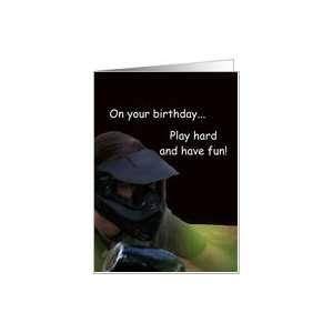 Happy Birthday, Paintball Boy Card Toys & Games