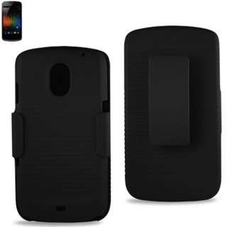 Samsung Galaxy Nexus LTE I515 Clip Stand Holster Hard Shell Case Combo