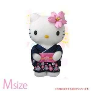 Kitty Sakura Cherry Blossom Plush Doll M Size (Navy Blue) Electronics