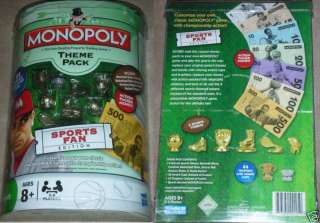 MONOPOLY GAME SPORTS FAN EDITION THEME PACK NEW ADD ON